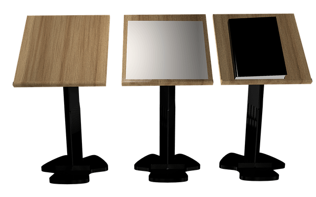 Three lecterns