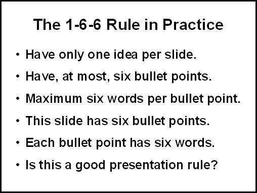 The 1-6-6 rule