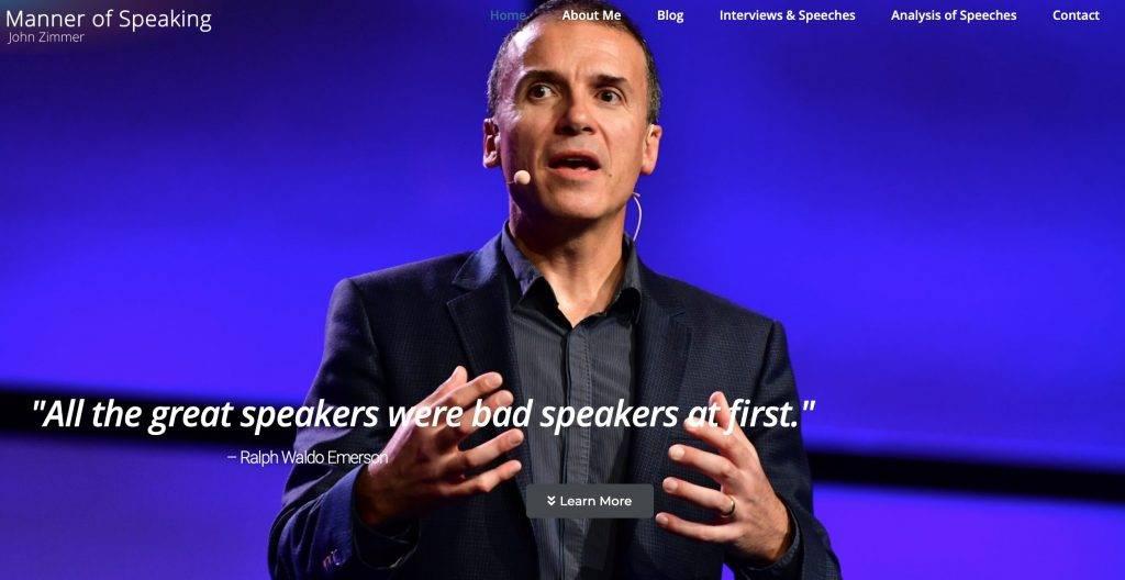Screenshot of Manner of Speaking website