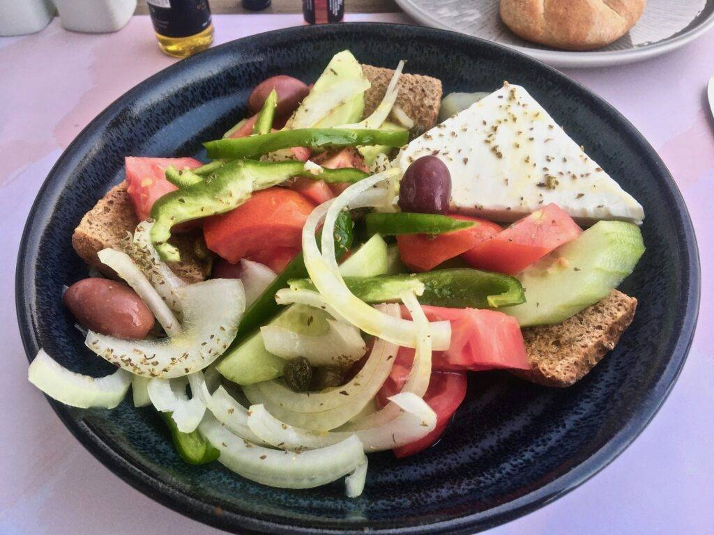 A Greek Salad in Corfu